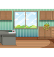 Firstaid tray in the room vector image vector image