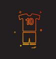 foot ball icon design vector image