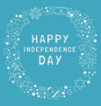 frame with israel independence day holiday flat vector image