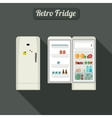 Fridge closed and open vector image vector image