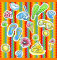 Fun bright summer pattern with flippers