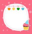 greeting card with birhday cake greeting card vector image