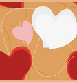 heart seamless pattern decoration on ocher vector image vector image