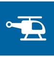 helicopter vehicle isolated icon vector image