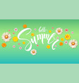 hello summer floral abstract pattern with bud of vector image vector image