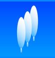 hight tree icon isometric style vector image