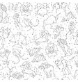 horoscope hand draw seamless pattern all zodiac vector image vector image