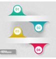 Infographic template with four colorful labels vector image