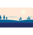Landscape hill and mountain backgrounds vector image vector image