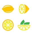 lemon icons set vector image vector image