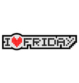 Love friday symbol vector image vector image