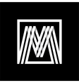 m capital letter made of stripes enclosed vector image