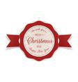 merry christmas decorative circle emblem vector image vector image