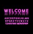 neon banner alphabet vector image