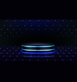 neon podium empty stage in nightclub dance floor vector image