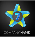 number seven logo symbol in the colorful star
