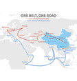 one belt - one road chinese modern silk road vector image
