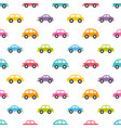 pattern with colorful cars vector image