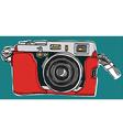 Rangefinder camera sketchbook vector image vector image