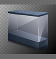 realistic of a empty showcase vector image vector image