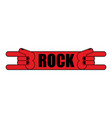 rock hand symbol of music rock and roll emblem vector image vector image