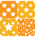 seamless star pattern 4 style vector image