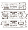 set of three banner wild west and american vector image