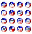 set political buttons vector image