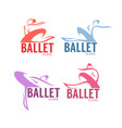 silhouette of beauty ballet dancer logo vector image vector image