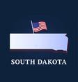 south dakota state isometric map and usa national vector image vector image