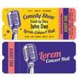 stand up comedy show entrance tickets vector image