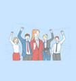success motivation teamwork concept vector image