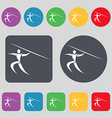 Summer sports Javelin throw icon sign A set of 12 vector image vector image