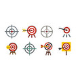 target icon set flat style vector image