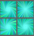 Teal spiral and ray burst background design set vector image vector image