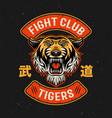 Tiger fight club martial arts colorful