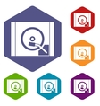 Turntable icons set vector image vector image