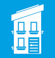 two-storey house icon white vector image vector image