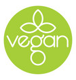 vegan logo icon design vector image vector image