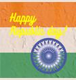 indian art flag indi republic day freedom vector image