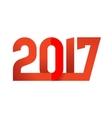 2017 Happy New Year logo vector image