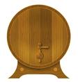 Ancient oak barrel vector image
