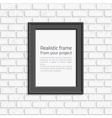 Photo frame brick wall vector image