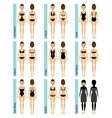 Womens swimsuit types vector image