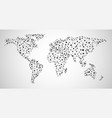 abstract global communications world map vector image