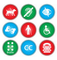 accessibility icons vector image