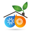 air conditioning ecology vector image vector image