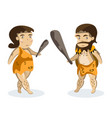 ancient people on white background vector image vector image