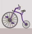 antique bike vector image vector image