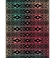 Aztec tribal mexican pattern vector image vector image